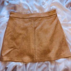 BB Dakota suede skirt